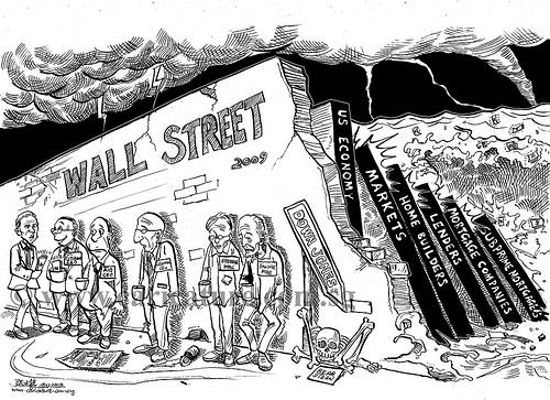 等到大家發現好像不太對勁?應該趕快賣掉股票~ 所有的美國人都想脫手股票,換回現金.... 但是!一切以為時已晚,因為根本沒有人想買股票.... :(((