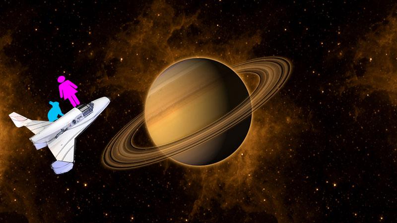 另外,假設同時間,有女孩B正前往宇宙! 她使用了空間70,時間30~