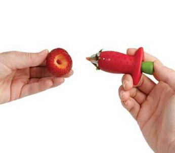 就可以輕輕鬆鬆的切掉蒂頭, 而且還不會切掉過多的果肉唷~是不是很方便!