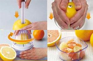 就是它! 只需要將葡萄柚對半切,再裝上專用小物,轉上一圈~ 全部都沒有浪費!!! 葡萄柚就這摸乾乾淨淨的,已經切好在杯中等著我了~(撒花)