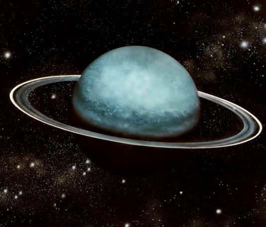 七號候選人—天王星(Uranus)   追求者非常多的天王星小姐, 在她身旁時常可以看見雲帶、和一些小衛星跟追著她跑耶~