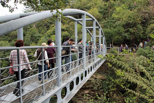 在這個國家森林公園裡, 目前正在搭建一座透明的大橋!!!! (欸~當然不是這一座~)