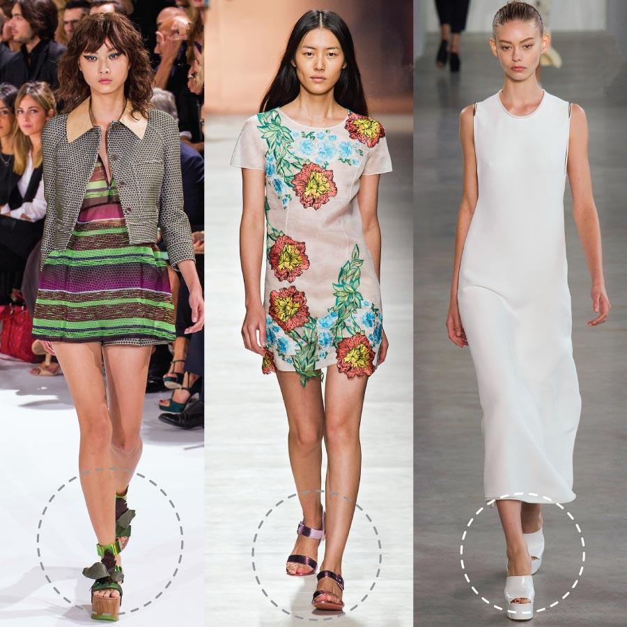 原木底、平底、厚底涼鞋等,超多款式的涼鞋們,出現在時尚大秀上! 今年夏天的流行通通報齁哩災唷~