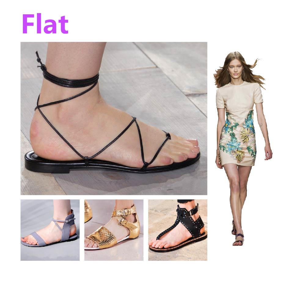 ✓ 平底款(Flat)  夏天必備基本款! 今年的平底涼鞋,真的要那種超平超平的唷!!! ✭重點筆記~劃紅線!