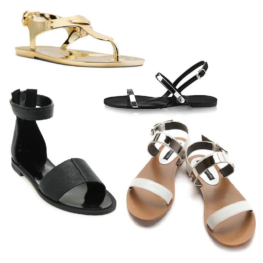 果然夏天是絕對不能沒有平底涼鞋呀~ 特別是要這種寬帶設計的唷! 這樣搭上一樣是今年流行的寬褲~ 瞬間時尚指數升到99.99%耶!