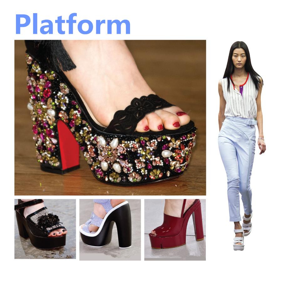 ✓ 厚底款(Platform)  還是覺得自己身高不夠高? 那這個這個☞ 1970年代的代表!充滿復古風的厚底涼鞋! 今年也回歸時尚圈摟~