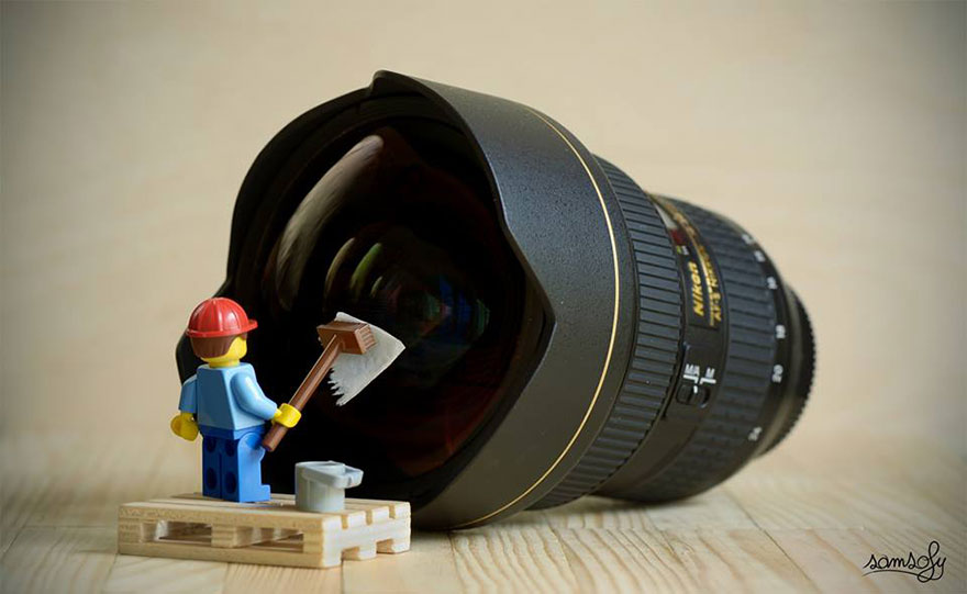 帶著攝影家的藝術感 搭配超可愛的樂高小人~ 好像那些公仔都活了起來一樣!