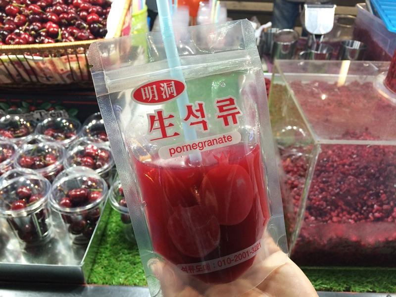 真的是最後了~用紅石榴果汁做結尾吧!