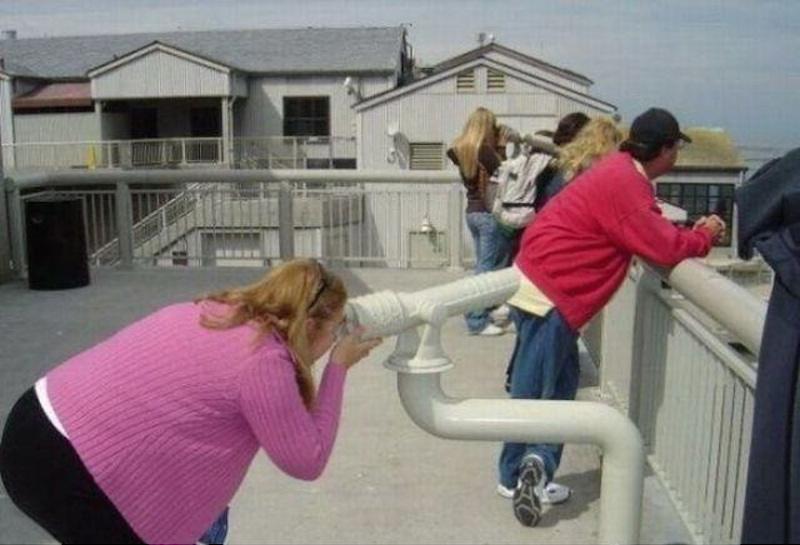 1.望遠鏡不可能當做內視鏡來看肛門