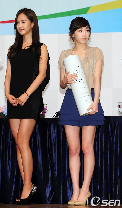 另外,風靡全球的少女時代成員中, 當然也有這樣的問題啊!俞利&太妍!