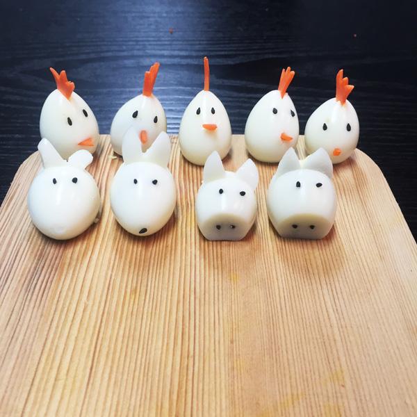 這次要教大家的就是小動物鵪鶉蛋了! 先從做小雞開始吧!
