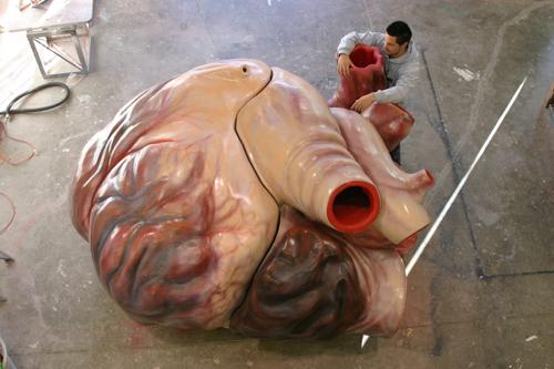 光是心臟的就重達200公斤!!! 跟一個小型房車差不多的大小。 另外,舌頭也有一隻大象的長度呢!!!