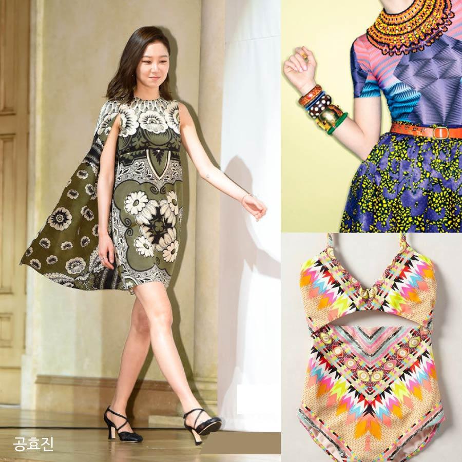 不論是亞洲或是非洲等,從許多民族的衣服中獲得靈感,而設計出來的這些花紋,讓衣服看起來充滿異國風情,更充滿陽光活潑的感覺,展現女性美,是ETHNIC的特徵喔!