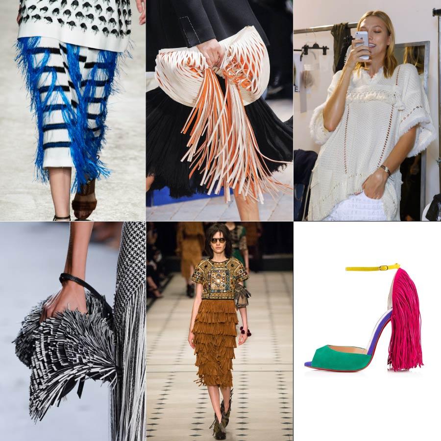 Isabel Marant, Christian louboutin等,許多品牌都設計了許多帶有輕快感的流蘇,設計在包包、鞋子、服裝等許多Item上唷!