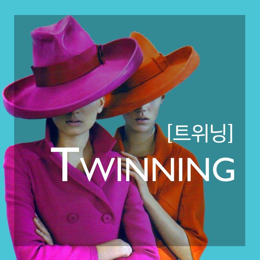 TWINNING—指「朋友之間,穿著相似,像雙胞胎般的風格」