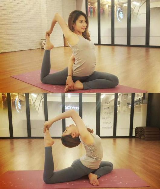 22歲的她~為了保持好身材~平常的興趣就是做瑜珈