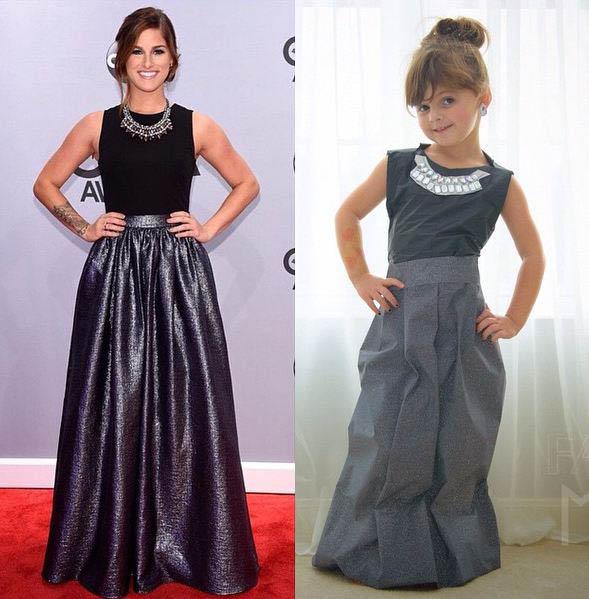 這位可愛的小女孩,拖媽媽的福,從小就可以穿上和女演員一樣的衣服~