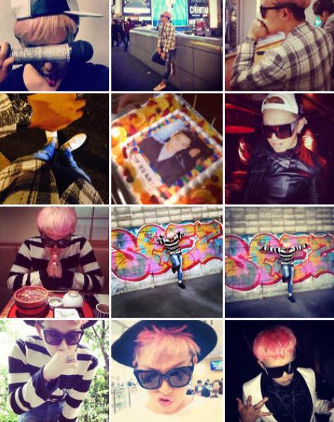 他的IG有1萬多人追蹤,推特有2萬多人follow, 許多不知道人,還以為這個真的是GD個人的Instagram~