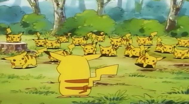 #8. 皮卡丘原本是一種野生的口袋動物