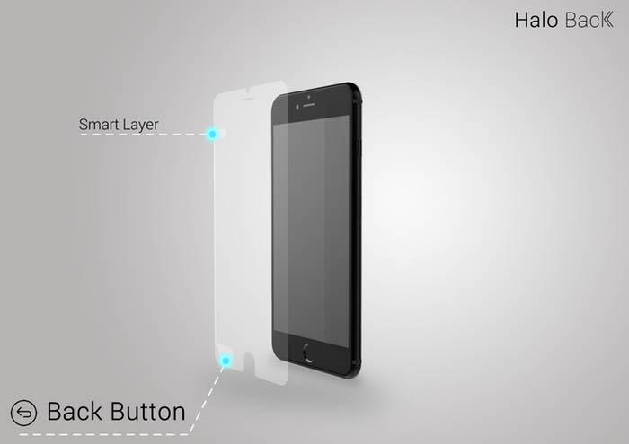 這摸神奇的效果怎摸辦到的呢?其實很簡單~ 就是將HOME鍵旁邊的感應連結到iphone原先在螢幕左上方的那個返回鍵✭(如圖)