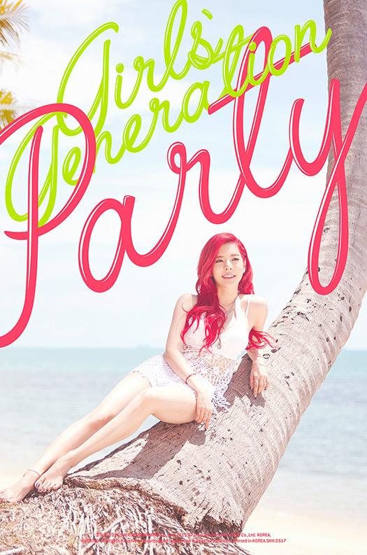 而她就是少女時代的Sunny~讓人一眼就認出她來的~除了那火紅的髮型