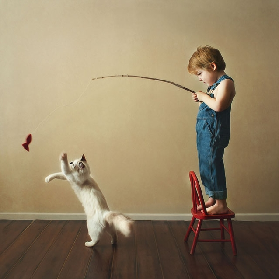沒想到小正太在小小年紀就已經抓到逗貓的精隨,好厲害!  Beth Mancuso現在過著滿足開心的生活,小正太們也熟悉和貓咪相處的日子,甚至成為彼此最好的朋友,這一切都來自貓咪教會他們耐心、溫柔的重要性!看完又再度被療癒了~