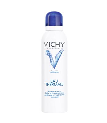 温泉礦物保濕噴霧—Vichy薇姿 / 50ml / 約台幣200元  含有來自法國的100%天然溫泉純水,富含15種有益礦物,噴霧分子極小,就算噴在有化妝的臉蛋上,也不用擔心融妝問題。使用這款噴霧後,臉部能十足感受到保濕水嫩感唷!