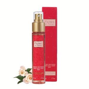 玫瑰保濕噴霧—歐舒丹/ 50ml / 約台幣488元  噴保濕噴霧的同時,能沐浴在高級的玫瑰香氣下,心情瞬間變美好!玫瑰也是保濕力超強的成分,不會刺激皮膚,敏感性皮膚也能夠放心使用。