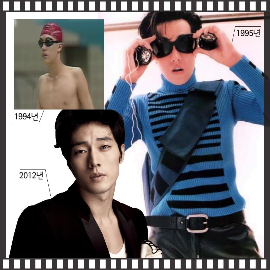 「Storm」在韓國90年代是最具代表性的服飾品牌,蘇志燮在Storm所舉辦的選秀大會上,之所以打敗眾人獲得優勝的原因,不禁讓人聯想,是否因他那可媲美出戰奧運游泳選手的超寬肩膀的關係呢?