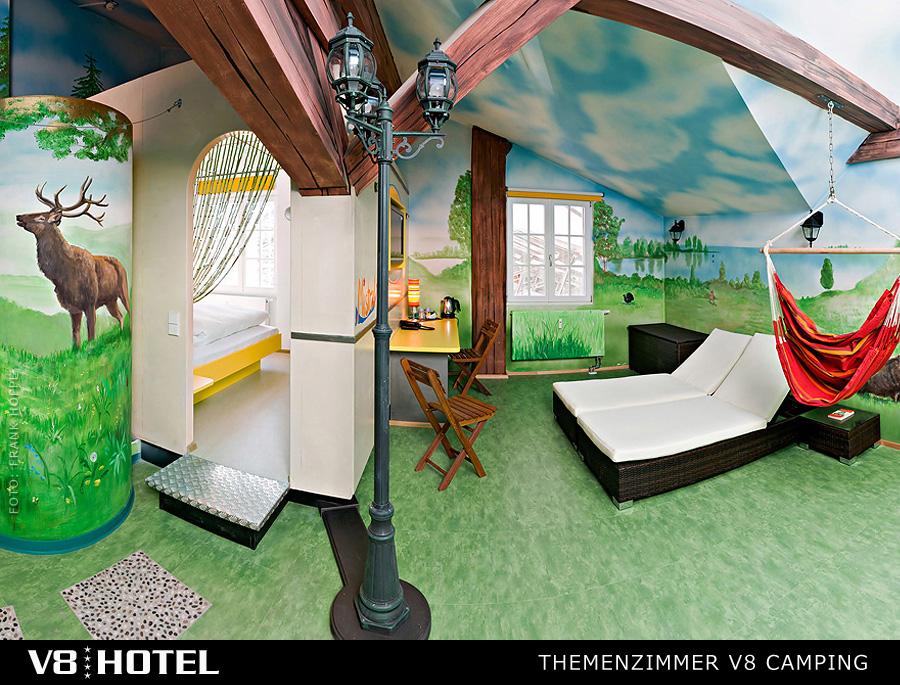 前面也有提到,V8 Hotel不完全是走男性路線對吧?像這間田園森林的房間就好、清、新,正合女孩兒的味。