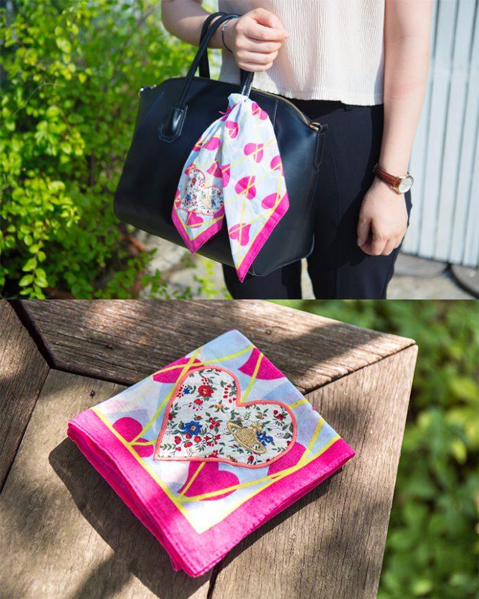 ▶ 包飾  這個應該以前就流行過了~背素色背包時候搭配花巾~超級夏天的呀~