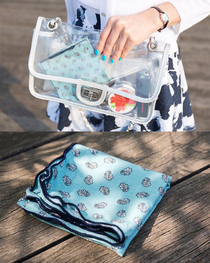 ▶ 包飾  透明包包的話,乾脆直接放進包裡~是不是fu就不一樣了?