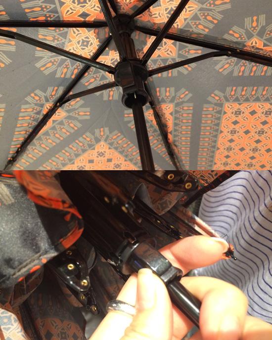 收傘方式也很貼心,以按鈕式