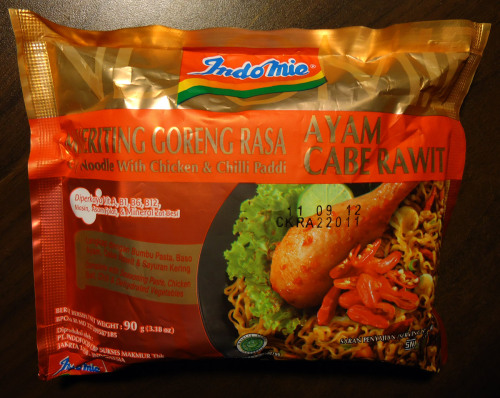 NO.6 Indomie Curly Noodle With Chicken & Chilli Paddi