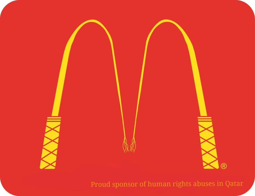 #麥當勞LOGO 變成鞭子的M