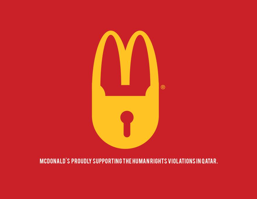 #麥當勞LOGO 鎖...限制.....