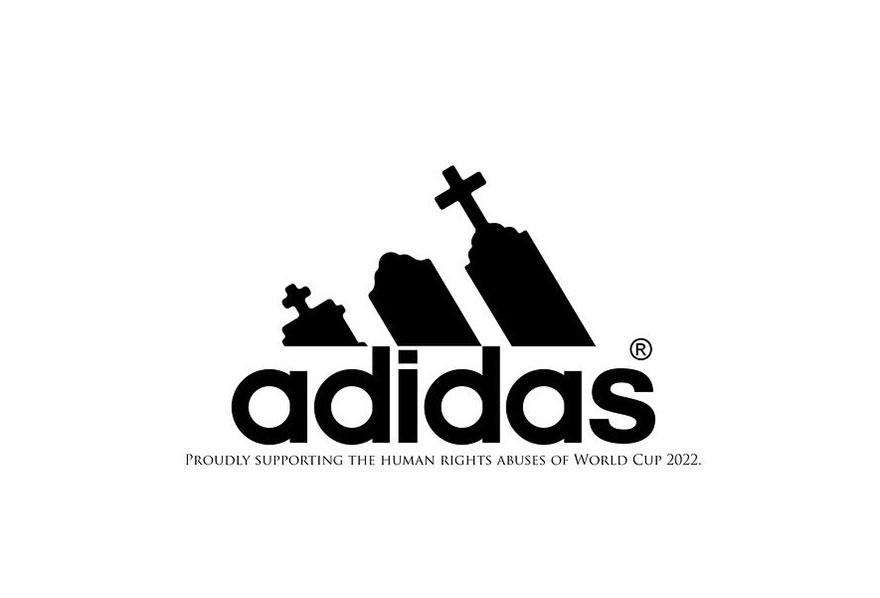 #Adidas LOGO 像墳墓一樣....