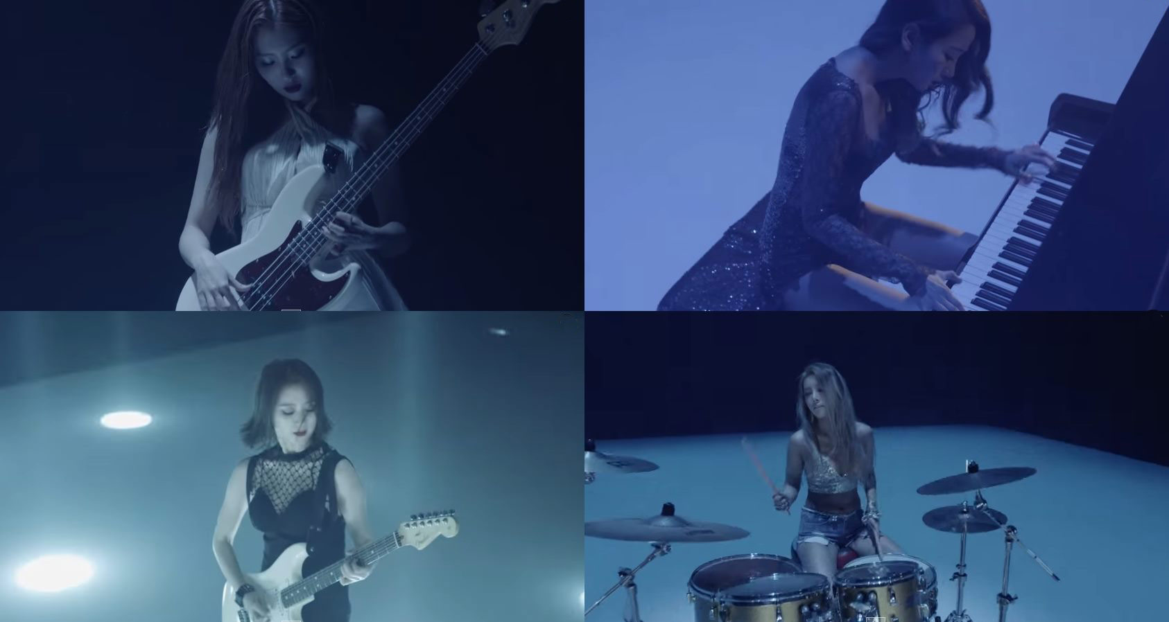 日前JYP釋出每個人的預告影片~原來都勤練了樂器啊! 婑斌鼓手、譽恩鍵盤手、惠林吉他手、宣美則是貝斯手!