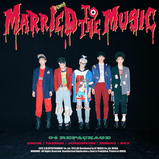 SHINee總有一種一天到晚在回歸的港截XD 這次是以新歌加精選的改版包裝專輯《Married To The Music》,內含4首新歌,也會在8月3日發表!