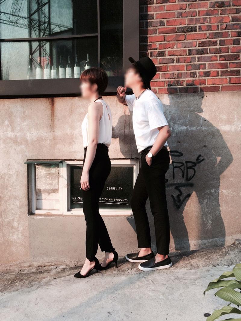 #側拍小秘訣:跟身高太高的女孩們拍照時,記得找斜坡地拍攝喔!XDDDDDD