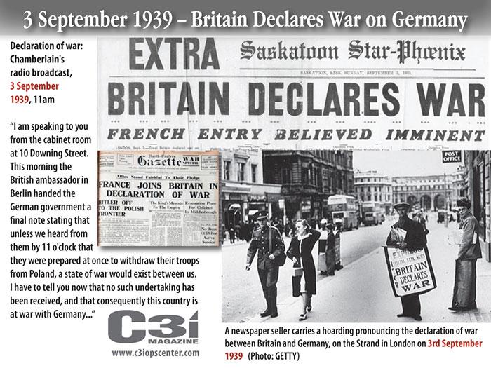 但是,當時波蘭和英國還有法國是同盟國。所以根據同盟國的條約,英國與法國就向德國宣戰