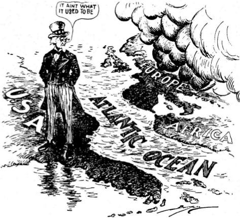 為什麼美國只過江看戰火呢?
