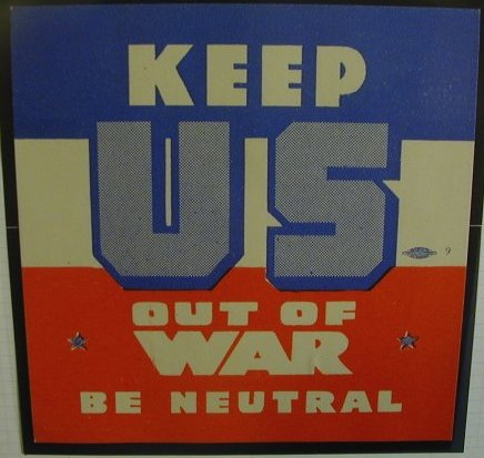 透過各種教科書,都可以發現,美國政府在經過第一次世界大戰的結果後,就主張其他國家的戰爭絕不介入的「孤立主義」