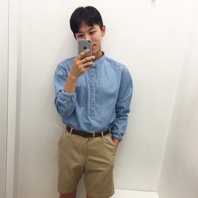 短褲再加上襯衫,可以展現俐落的青年look感覺
