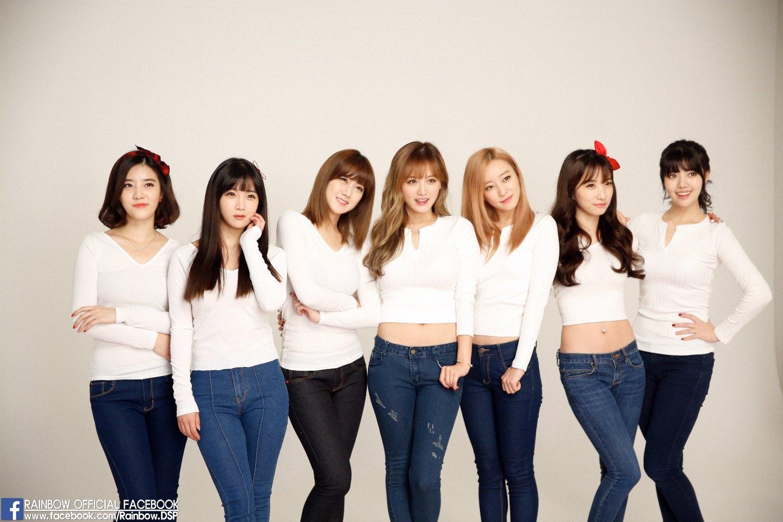和Kara同屬一家公司的女團Rainbow,七色彩虹代表七名成員