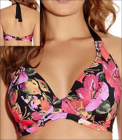 胸部太大的朋友們,可以選擇包覆性高的全罩式比基尼!這樣的比基尼,在罩杯上比較有支撐力,可以讓胸部大的女孩兒們穿起來更有安全感。