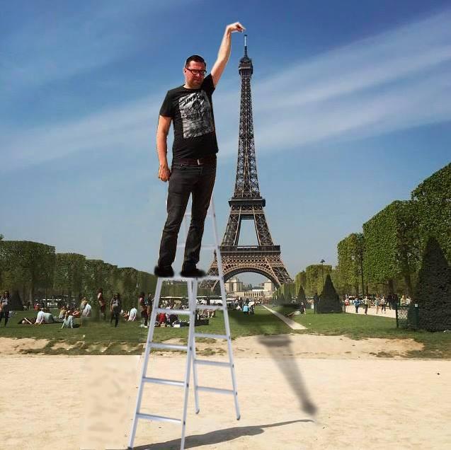 恭喜你!!!用七段梯就登上鐵塔頂端,創下金氏世界紀錄了!!!