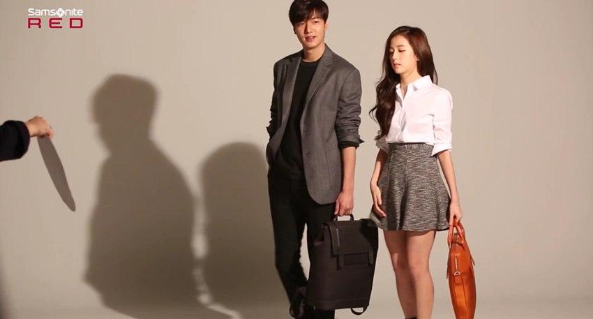 還不只這樣,她還未出道,就已經和長腿男神李敏鎬攜手拍廣告!!!!