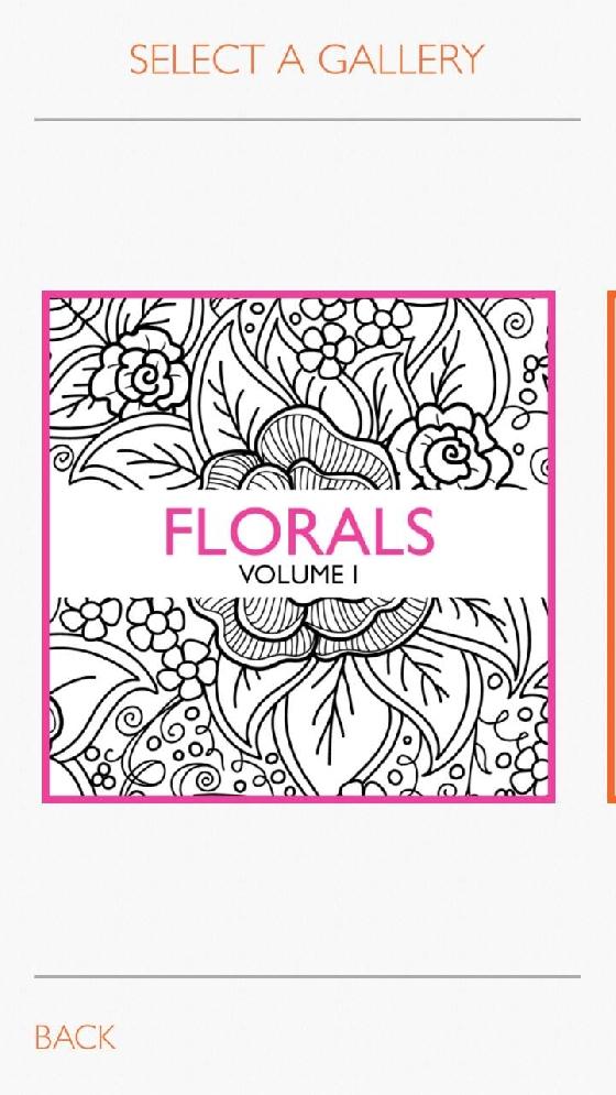 《Colorfy》的圖畫類型分成三種,花卉、曼陀羅以及東方