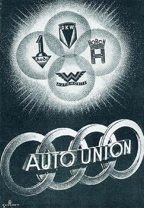 這四個公司分別是DKW、HORCH、Audi及Wanderer的組成